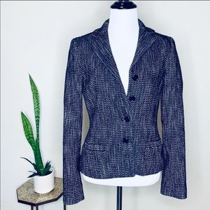 THEORY women's size 2 wool black white blazer
